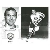 1970 Press Photo Dunc McCallum Pittsburgh Penguins - RRQ12833