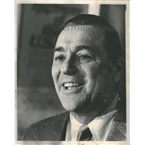 1970 Press Photo Hall of Famer Lou Boudreau. - RRQ17225
