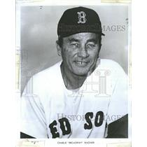 1970 Press Photo American Red Sox Pitcher And Coach Charles Broadway Wagner