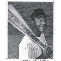 1970 Press Photo Raleigh-Durham Triangles Catcher Cliff Johnson - RRQ72637