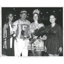 1971 Press Photo All Star Football Homecoming Court - RRQ65099