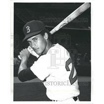 1971 Press Photo Juan Beniquez Center Fielder Boston Red Sox - RRQ71769