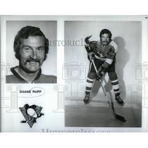 1972 Press Photo Duane Rupp Pittsburgh Penguins Team - RRQ45311