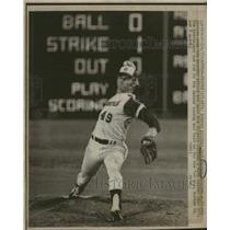 1973 Press Photo Carl Wendle Morton Atlanta Braves - RRQ10813