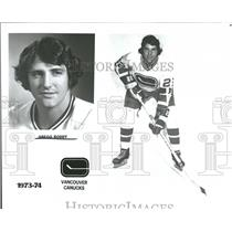 1973 Press Photo Vancouver Canucks Ice Hockey Player - RRQ58449