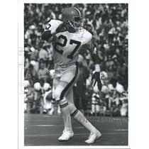1973 Press Photo Cleveland Browns Player Jarden Run - RRQ62231