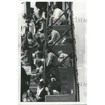 1975 Press Photo Chicago Cubs Fans - RRQ11373
