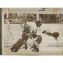 1975 Press Photo Glenn Resch New York Islander Game - RRQ14673