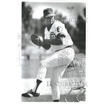 1982 Press Photo Chicago Cubs pitcher Paul Semall at Spring Training in Arizona