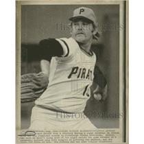 Press Photo Jim Rocker Pitching During Rainfall - RRQ29585