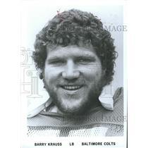 Press Photo Barry Krauss Baltimore Colts - RRQ54957
