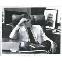 Press Photo George Steinbrenner, New York Yankees Head - RRQ58187