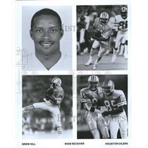 Press Photo Drew Hill Houston Oilers - RRQ61969