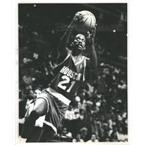 Press Photo Houston Rockets Player Floyd Making Lay Up - RRQ62401