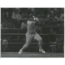Press Photo Geronimo Berroa professional baseball outfielder Oakland Athletics