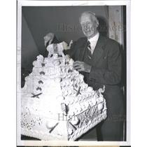 1948 Press Photo Connie Mack, owner Philadelphia Athletics - RRQ71445
