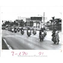 1985 Press Photo Gulf-to-Bay Dozen Motorcyclelists Ride - RRQ66755