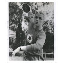 1956 Press Photo Canadian Competitor Jackie MacDonald - RRQ49627