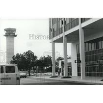 1980 Press Photo Huntsville, Alabama Airports: Huntsville, Madison Airport Tower