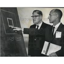 1962 Press Photo Jefferson Civil Defense Director U. N. James, B. D. Spangler