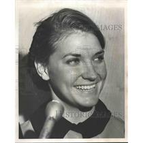 1964 Press Photo Mrs. Foster Jordan, Airline Stewardess of Birmingham plane