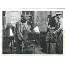 1947 Press Photo Persons metal working Delta Colorado - RRX83013