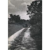 1951 Press Photo Dirt Road Tracks in Cahaba, Alabama - abno02400