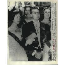 1961 Press Photo Princess Sophia & Spain's Prince Juan Carlos de Bourbon,engaged