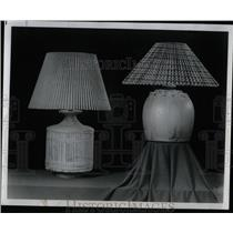 1974 Press Photo Table lamp materials hand crafted look - RRW58429