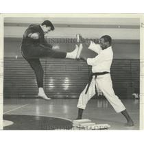 1967 Press Photo Martial Arts demonstrated by Douglas Dwyer of Chicago.
