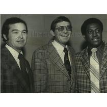 1974 Press Photo Joe Dean, Jabbo Waggoner, Pete Wilkins at Birmingham Club