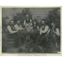 1887 Press Photo Skat players in Wauwatosa, Wisconsin - mjx48122