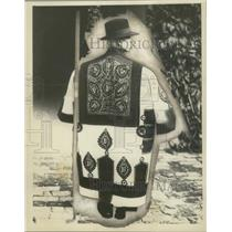 1930 Press Photo Hungarian Herdsman Wearing Embroidered Coat - mjx48552