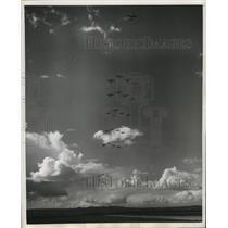 1950 Press Photo Turkish Fighter Plane Thunderbolt during Military Review