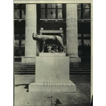 1929 Press Photo Rome, Italy Founders Statue Gifted To Rome, Georgia - mjc22441