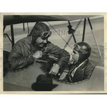 1930 Press Photo John Rolph III of Calif Governor with Bell Hay pilot instructor