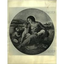 "1934 Press Photo Raphael's ""Alba Madonna"" - mjc22674"