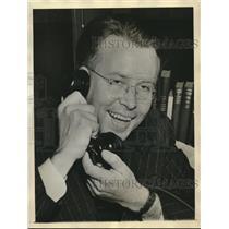 1939 Press Photo Dr Ernest Orlando Lawrence of U of California wins Nobel Prize