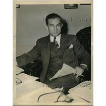 1944 Press Photo Rep J William Fulbright of Arkansas runs for Congress