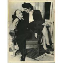 1946 Press Photo Fred Rose, Labor progressive member of Parliament & wife