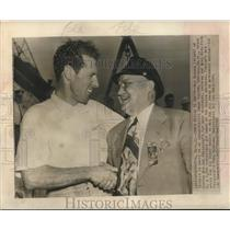 1947 Press Photo Roy Dossin & Danny Foster winner of president's Cup race