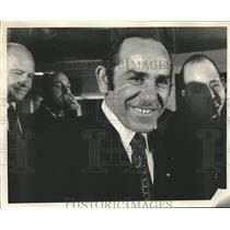 1972 Press Photo Yogi Berra announcement that he will lead Mets as manager