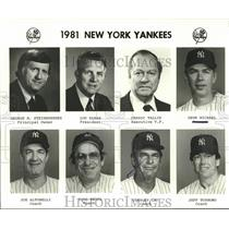 1981 Press Photo NY Yankees GM Steinbrenner, L Saban, C Tallis. G Mitchell et al