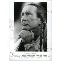 1995 Press Photo Russell Means Author Oglala Sioux - RRX47177