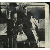 1948 Press Photo For Juan arrives in New York from Portugal with his wife