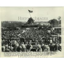 1954 Press Photo U.S. Marine Corps Memorial At Arlington National Cemetery