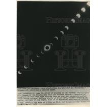 1954 Press Photo Solar Eclipse at Intervals of Less Than Five Minutes Over Hour