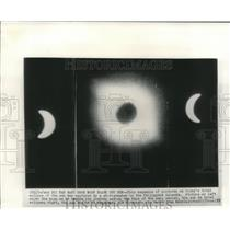 1955 Press Photo Total eclipse of the sun in the Philippine Islands.