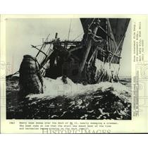 """1972 Press Photo Thor Heyerdahl's voyage featured in """"The Ra Expeditions"""""""
