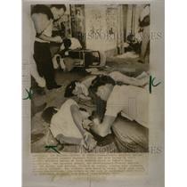 1970 Press Photo Hosei University Marxist Core Riots